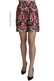 Print Garterized Mini Shorts