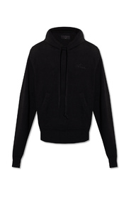 Cashmere hoodie with logo
