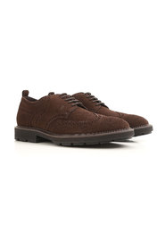Suede Derby brogues