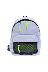 Mini fabric and mesh backpack with zip