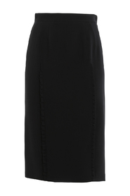 PENCIL SKIRT W/ROUCHES
