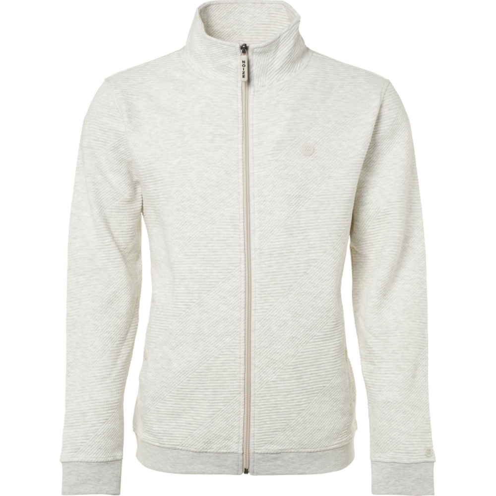 Sweat, full zip, high neck