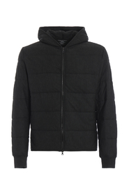 Slightly padded hooded sweat jacket