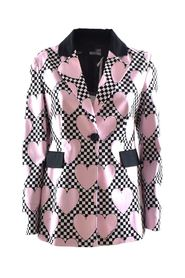 jacket with hearts and checkerboard