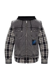 Jacket with layered effect