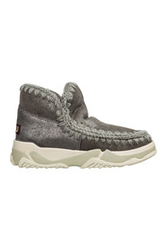 women's leather ankle boots booties Eskimo trainer
