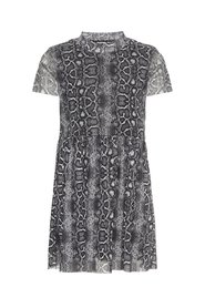 Dress semi sheer snake print