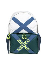 fabric backpack with logo