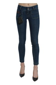 Slim Fit Cropped Mid Waist Jeans