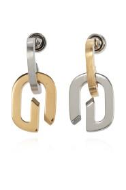 Drop earrings with logo