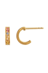 ørering - Petit Candy Creol Soft Pastal Stones Earring, Gold
