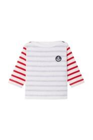 Petit Bateau - Bluse, Baby Sailor Top (Unisex) - Lait white / Poussiere grey
