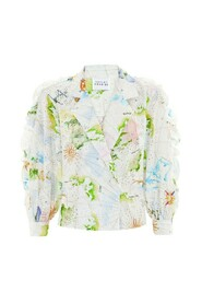 Paradise Found Broderie Tux Shirt