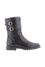 Bee 567-a leather high lace up boots