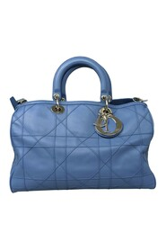 Pre-owned Cannage Granville Satchel Leather Calf