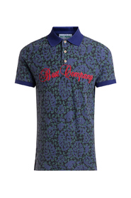 piquet leaves patterned polo