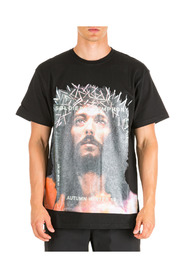 men's short sleeve t-shirt crew neckline jumper jesus