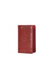 Crocodile print leatherette passport