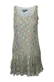Dress With Metallic Embellishments Pre Owned Condition Very Good