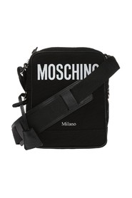 Shoulder bag with printed logo