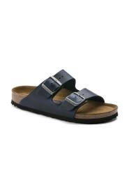 Mørk blå Birkenstock Arizona sandal myk smal lest