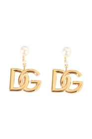 Earrings with DG logo and pearls