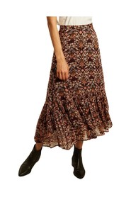 Laure Acanthe flower print long skirt
