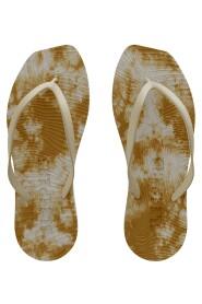 Tapered Flip Flop Yellow Tie Dye