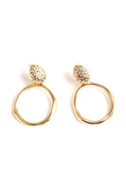 Gold Nuggets Earrings