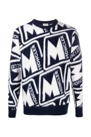 Strikket logo sweatshirt