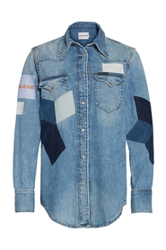 Denim Calvin Klein Jeans Foundation Western Shirt Skjorte