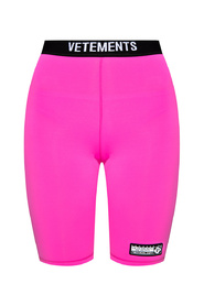 Cropped leggings with logo