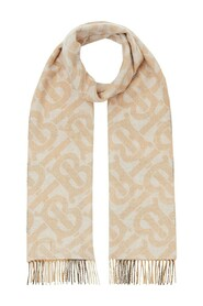 Reversible check and monogram scarf