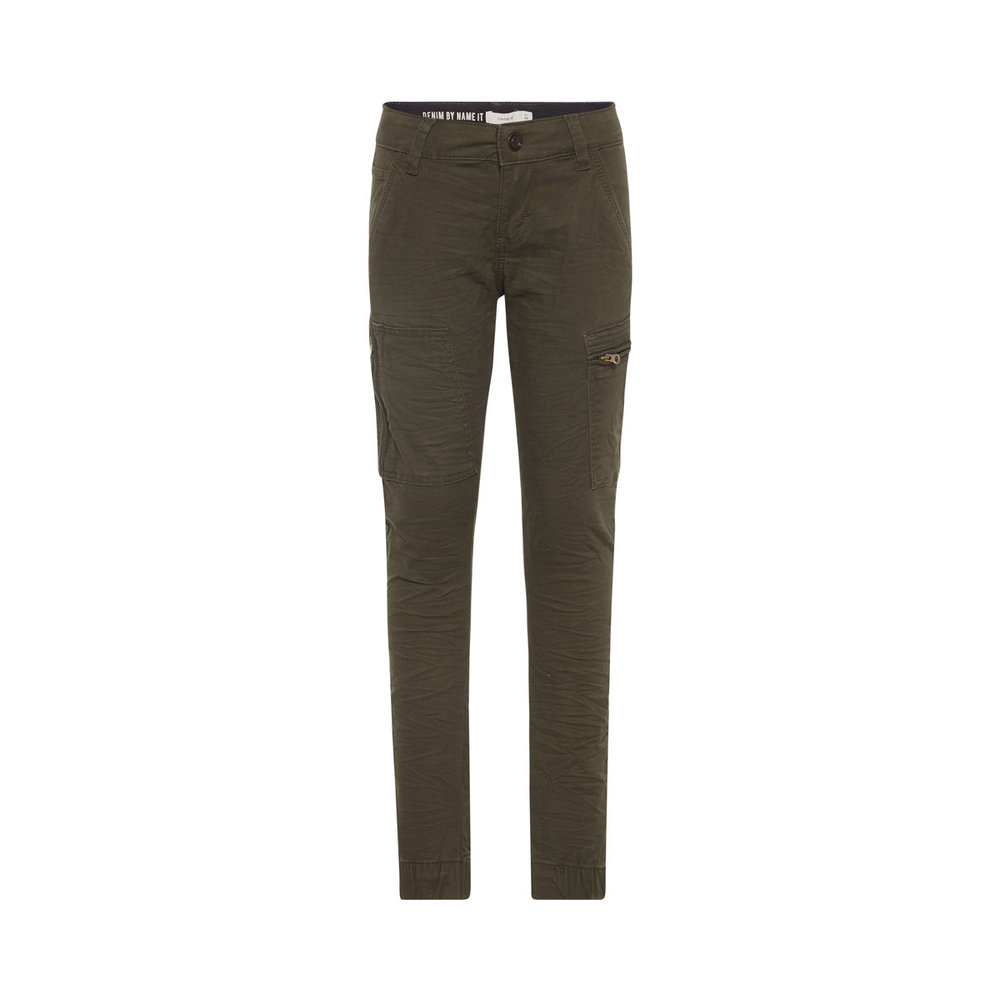 Trousers regular fit twill woven cargo