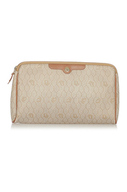 Pre-owned Honeycomb Coated Canvas Clutch Bag