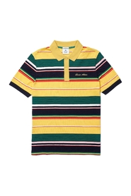 Live Embroidered Striped Pique Polo Shirt