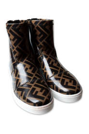 Junior Ankle Boot in FF Patent Leather