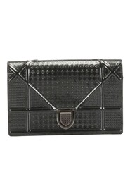 Micro-Cannage Patent Leather Shoulder Bag