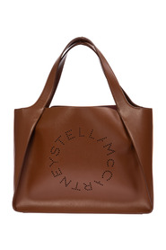 women's leather handbag tote shopping bag purse stella logo