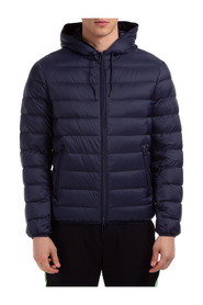 Down jacket blouson hood