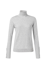 High neck sweater with button