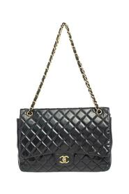 Pre-owned Quilted Leather Maxi Classic Flap Bag
