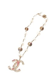 Collier de perles fleuries