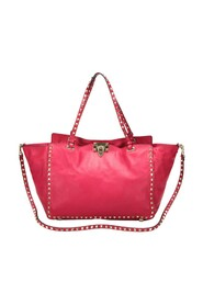 Pre-owned Leather Rockstud Tote Bag