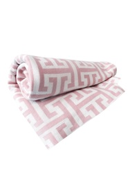 ATHENS PINK BABY BLANKET