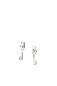 Sterling Silver Earrings Metal SV925