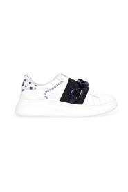 Sneakers Double Gallery in pelle con maxi catena