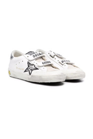 Old School touch-strap leather sneakers