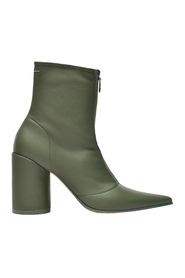 High-heeled Boots  Leather