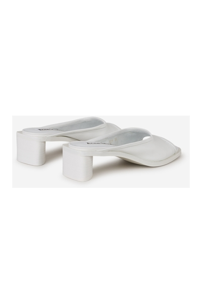 Acne Studios White Bessy Leather Sandals Slippers - Wit 0mCZtLl